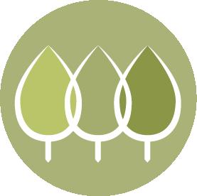 Team development services icon - trees